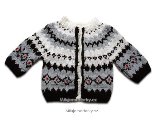 3114ef3d3caa ručně pletený svetr s norským vzorem - 62
